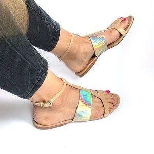 Sigerson Morrison | Metallic Leather Sandals sz8.5